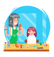 children teenager hairdresser character cute vector image vector image