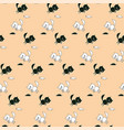 childrens cartoon pattern with cats and mice vector image vector image