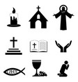 christian faith icons vector image