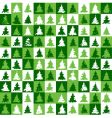Christmas tree pattern green vector image vector image