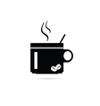 coffee cup silhouette vector image vector image