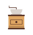 coffee grinder mill machine flat view vector image vector image