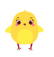 cute chicken cartoon little chick isolated on vector image vector image