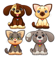 Cute dogs and cats vector image vector image