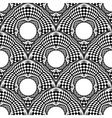 Design seamless monochrome circle pattern vector image