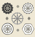 dharma wheel dharmachakra buddhism icon flat web vector image