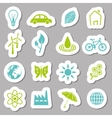 environment stickers vector image vector image