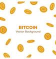 flat bitcoin golden coins falling set vector image vector image