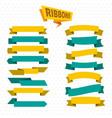 flat bright colorful blank ribbons set vector image vector image