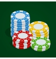 Gaming chips Casino tokens Poker chips vector image vector image