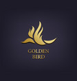 golden bird logo abstract luxury icon vector image