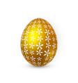 Golden easter egg on white background easter egg