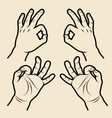 Hand signs 3 vector image vector image
