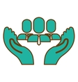 hands and people icon vector image vector image