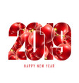 happy new year card with text number 2019 vector image