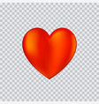 heart icon on transparent vector image vector image