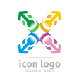icon arrow green design symbol abstract vector image vector image