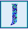 J - letter - Green Watercolor mosaic