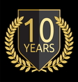 laurel wreath 10 years vector image vector image