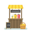 lemonade stand flat vector image vector image