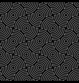 line art circles seamless pattern vector image vector image