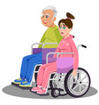 man woman disabled white medical people vector image