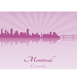 Montreal skyline in purple radiant orchid vector image vector image