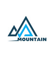 mountain logo template logo for your design vector image vector image