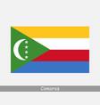 national flag comoros comorian country flag vector image
