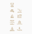 nine trend logo hipster style vector image