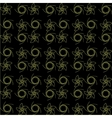 Patterns are repeated on a black background vector image vector image