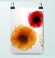poster minimal design template business floral vector image