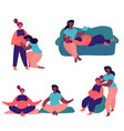 pregnant lesbian couple vector image vector image