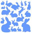 Rabbits 1 vector image vector image