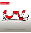 Santa red Sledge elegant icon vector image vector image