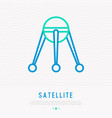 satellite thin line icon vector image
