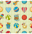 seamless pattern baby toy cartoon style vector image