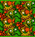 seamless pattern of khokhloma style pictures of vector image vector image