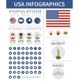 set flat design icons and infographics elements vector image
