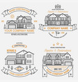 set house construction company identity vector image vector image