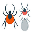set mite in flat style design element for vector image