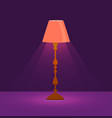 set of colorful cartoon floor lamps light vector image vector image