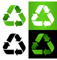 Set of recycle sign vector image vector image