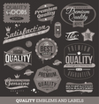 signs emblems and labels quality and guaranteed vector image vector image