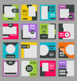 social media templates web promotional banners vector image