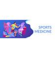 sports medicine concept banner header vector image vector image