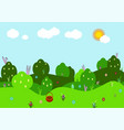 spring landscape with bushes vector image