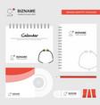 stethoscope logo calendar template cd cover diary vector image