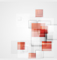 Tech background with red squares vector image vector image