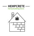 template hemp icon 3 vector image vector image